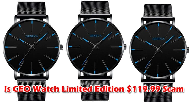 Is CEO Watch Limited Edition $119.99 Scam 2021 TV
